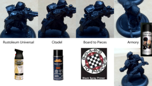 Primer Comparison on miniatures