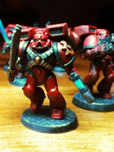 Blood Angels Assault Marine with Plasma Pistol