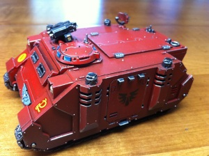 Blood Angels Rhino Left Side No Mud