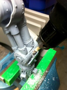 Pinning the Reaver Titan Knee - Drilling