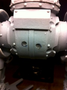 Reaver Titan hip and pelvis pins fully installed