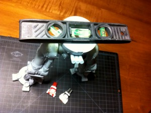 Installing the reaver titan lower torso to the legs