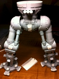 reaver titan assembled legs masked with poster tak