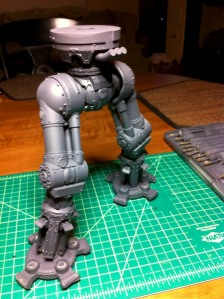 Reaver titan primed leg assembly