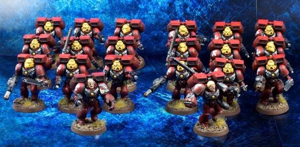 20x Blood Angel Assault Marines