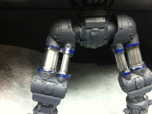 Reaver Titan legs with Alclad II chrome