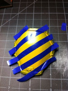 Reaver Titan knee pad with vinyl masking tape