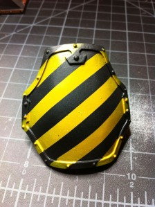 Reaver Titan yellow caution knee pad