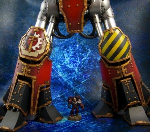 Closer view of Reaver Titan painted legs