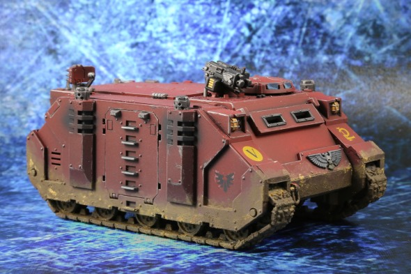 Blood Angels weathered rhino