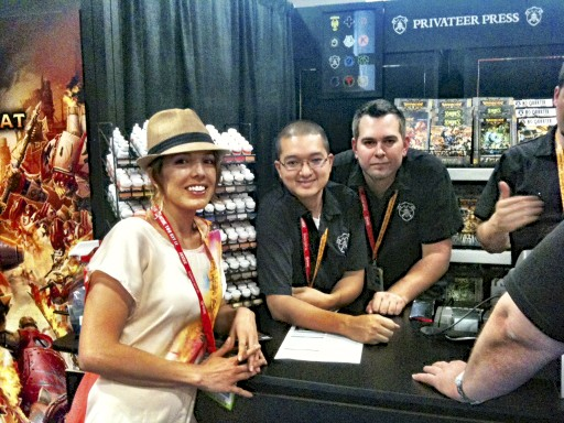 Ms. P and privateer press at Comic Con.