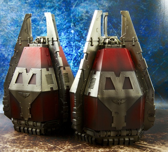 2x Forgeworld Lucius Pattern Dreadnought Drop Pods