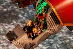Forgeworld Warhound Titan open cockpit with LED lights
