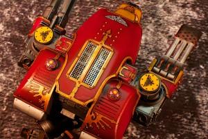 Forgeworld Warhound Titan Top Down shot showing metal reactor grill