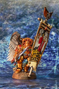 Blood Angels Sanguinary Guard with Chapter Banner