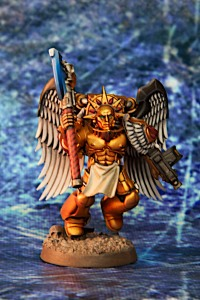 Blood Angels Sanguinary Guard with Force Axe