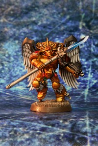 Blood Angels Sanguinary Guard with Power Spear