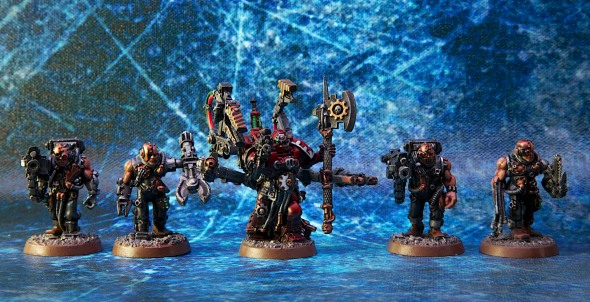 Blood Angels Tech Priest with Weapons Servitors