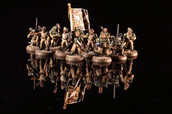 Astra Militarum Cadian Shock Troops Commanders
