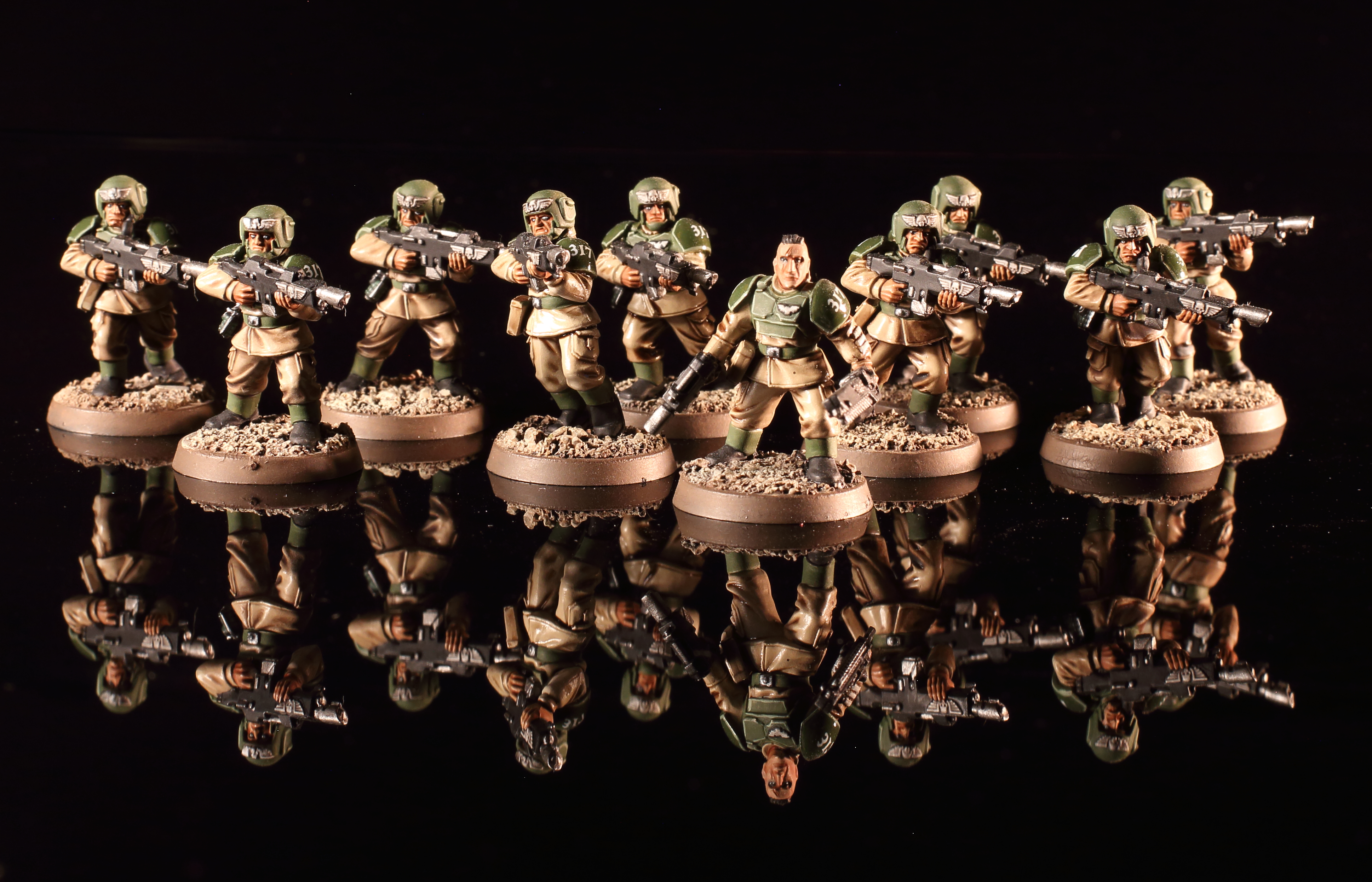 Astra militarum cadian shock troops squad 317 30mm madness
