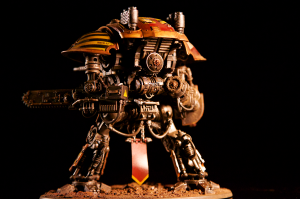 Rear view of a Knight Titan