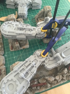 Warlord Titan Knee Joints Clamped