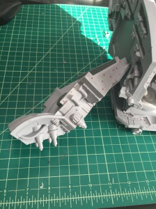 Warlord Titan Torso Front Plate Gluing Prep 1