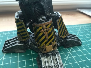 Warlord Leg with Caution Striping
