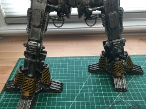 Warlord Legs with caution striping