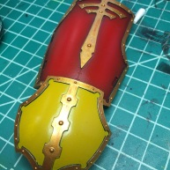 Titan Thigh Guard Armor Plate, completed